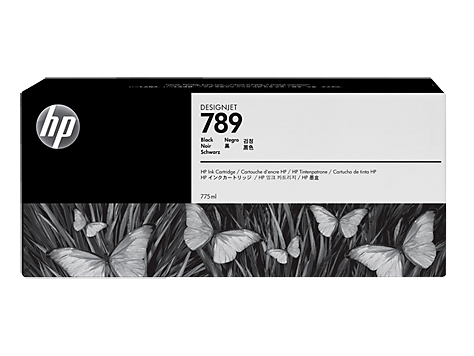 HP 789 775-ml Black Latex Designjet Ink Cartridge (HP) CH615A