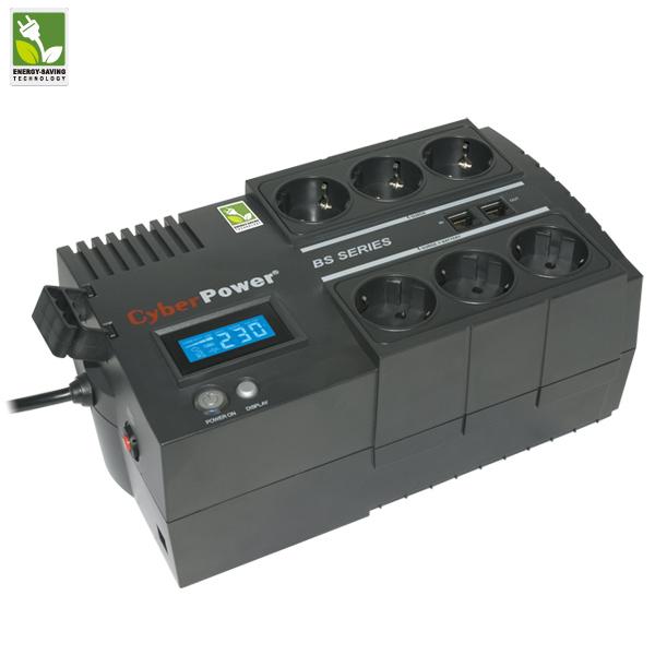 ИБП CyberPower BS650E, 650ВА/360Вт, напольный