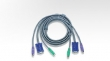 ATEN KVM Cable 2L-1003P/C Кабель для KVM: 2*PS/2(m)+DB15(m) (PC) -на- 2*PS/2(m)+DB15(f) (KVM), 3м (Aten)