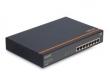Коммутатор Upvel (UP-218FE) 8-портов Gigabit PoE+ до 30Вт на порт (металлический корпус, в комплекте крепление для монтажа в стойку)