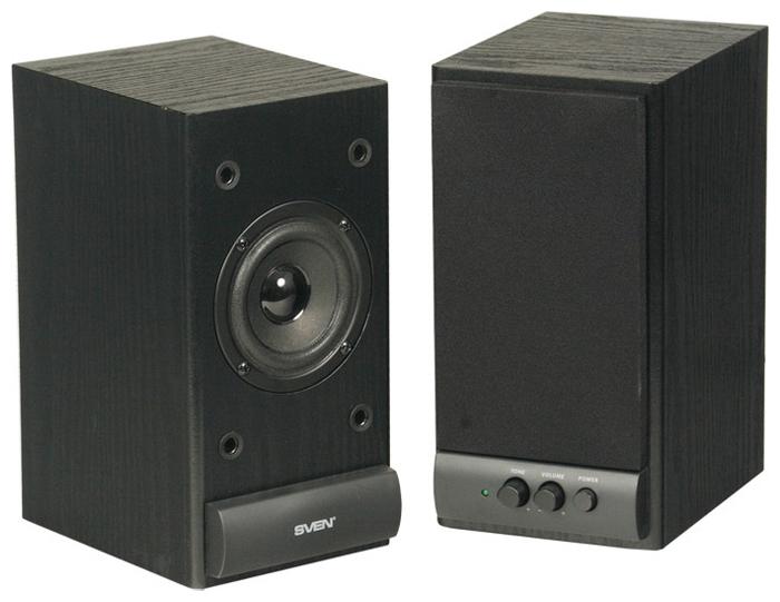 Sven (Колонки  деревянные АС SPS-609 (10 Вт), чёрный) SV-0120609BK