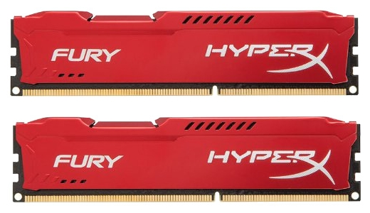 Kingston (Kingston 8GB 1333MHz DDR3 CL9 DIMM (Kit of 2) HyperX FURY Red Series) HX313C9FRK2/8