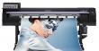 MIMAKI CJV150-107.  Универсальный плоттер-каттер с возможностью печати и контурной резки. Максимальная ширина печати-резки  1090мм. Система непрерывной подачи чернил.  Разрешение 360 dpi/1440 dpi, скорость печати до 56,2 м2/час, печатающие головки нового
