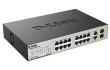 Коммутатор D-Link с 16 портами 10/100BASE-TX с поддержкой PoE +2 комбо-порта 10/100/1000BASE-T/SFP (DES-1018MP/A1A)