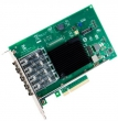 Intel (Intel® Ethernet Converged Network Adapter X710-DA4, Quad SFP+ Ports, 10 GBit/s, PCI-E x8 (v3), VMDq, PCI-SIG* SR-IOV Capable, iSCSI, FCoE, NFS) X710DA4FHBLK 932576