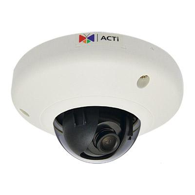Камера купол. внутр. мини, ACTi Н.264 High Profile/MJPEG, 1Мп, CMOS, только PoE, f2.8мм/F2.0, 30 к/с при 1280 x 720, локальное хранение, Стандартный WDR (E91)