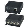 IP01H Коммутатор Ethernet (4 входа / 1 выход) для объединения IP-сигналов от 4-х устройств, удаленных на расстояние до 200 м, в 1 IP-канал