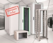 "Шкаф сетевой 19"" ITK LINEA N LN35-33U68-G, 33U, 600х800 мм, стеклянная передняя дверь, серый (3 места LN35-33U68-G-1+LN35-33U68-G-2+LN35-33U68-G-3)"
