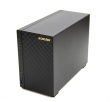 ASUSTOR 2-Bay NAS/CPU (2Core)/512MBDDR3/noHDD,LFF(SATAll,SATAIII,SSD)/1x1GbE(LAN)/2xUSB3.0/4ip camera license (AS1002T)