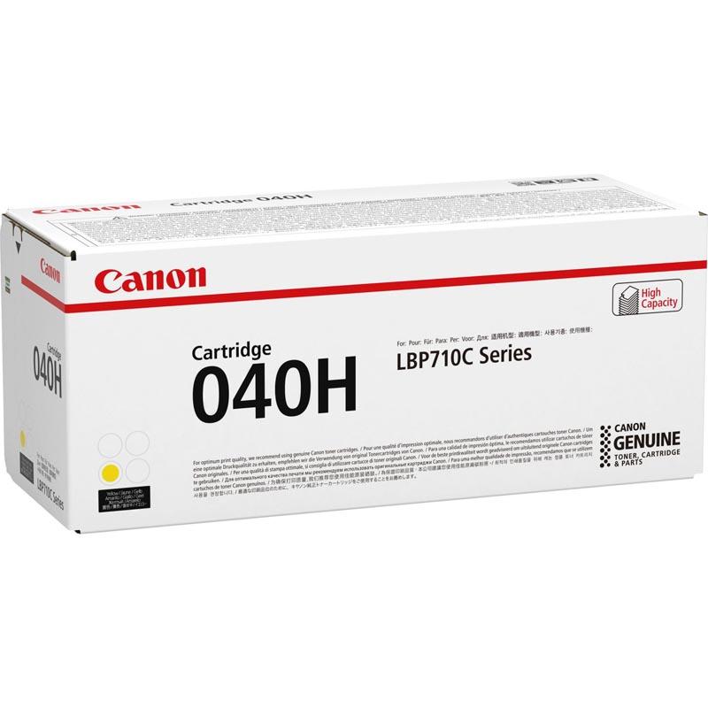 Картридж Canon 040 H Y для принтеров i-SENSYS LBP712Cx, LBP710Cx. Жёлтый. 10000 страниц (0455C001)