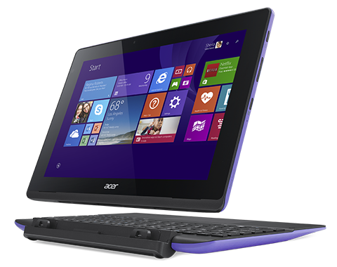 Acer (Aspire Switch 10E SW3-016-18B8  10.1'' WXGA(1280x800) IPS/Intel Atom x5-Z8300 1.44GHz Quad/2GB/32GB+500GB/Intel HD Graphics/no3G/WiFi n/BT4.0/microUSB/2.0MP+2.0MP/microSD/HDMI Micro/30.00Wh/8060mAh/12.0h/1.20kg/W10/1Y/PURPLE/KB) NT.G90ER.001