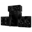 Sven (SVEN HT-210, чёрный, акустическая система 5.1, мощность (RMS):50Вт+5x15Вт, Bluetooth, Optical, Coaxial, FM-тюнер, USB/SD, дисплей, ПДУ) SV-014124