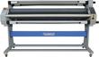 MF1700-M1 Plus. Теплый (от 0 до 50 С), износостойкие силиконовые валы, ширина 1620мм, скорость до 6 м/мин, толщина  материала до 23 мм, пневматический механизм подъема  вала, автоподмотка подложки и готовой продукции (ревайндер), ИК нагрев, время нагрева