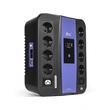 SVC-U-600 (ИБП U-600, Smart, USB, Диапазон работы AVR: 165-275В, Бат.: 12В/7,5 Ач., 8 вых.: Shuko CEE7(4 с работой от батареи,4 сетевой фильтр), 2 вых.: IEC C13, Защита тел. линии, USB 5В/2А*2 шт., Чёрно-синий) D-Link