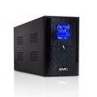 SVC-V-1500-L-LCD (ИБП V-1500-L-LCD (1500ВА/900Вт), Диапазон работы AVR: 145-290В, Бат.: 12В/9 Ач*2шт., вых. 3*Shuko (Bypass), Чёрный)