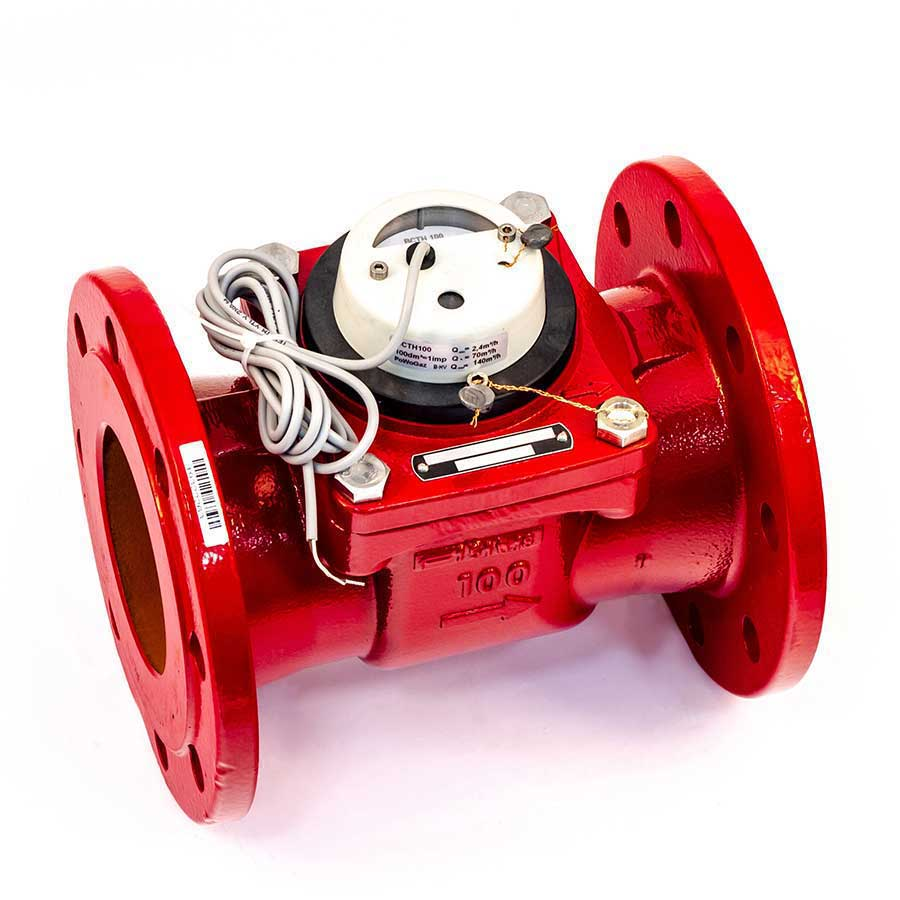 Счетчик горячей воды Тепловодомер ВСТН-100 с импульсным выходом, DN 100