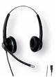 SNOM A100D Широкополосная стереофоническая гарнитура. Широкополосное качество звука, Кабель на одном наушнике, Гибкая стрела 300°, Микрофон с пассивным шумоподавлением, Быстрое подключение RJ-9, разъем USB и 2,5 мм в качестве опции (Snom)