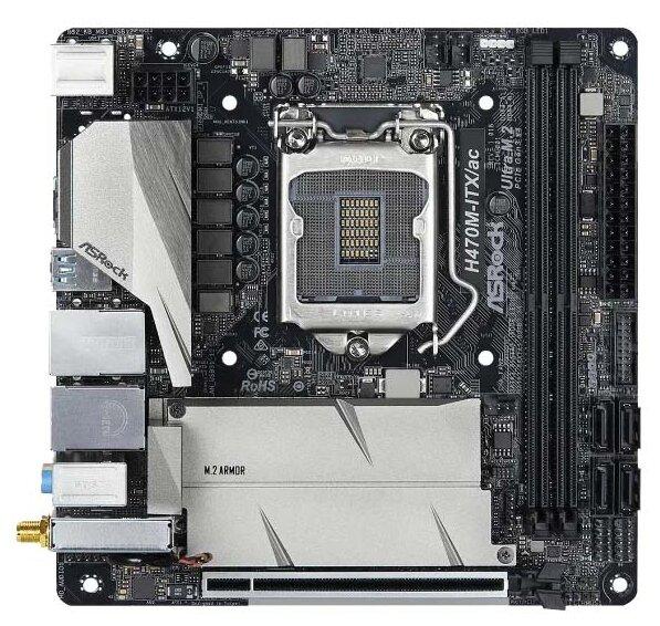 Asrock H470M-ITX/AC, LGA1200, Intel H470, Mini ITX, BOX