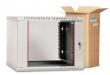 Шкаф телекоммуникационный настенный разборный 18U (600х520) дверь стекло ШРН-Э-18.500 (ШPH-Э-18.500) ЦМО