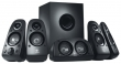 Logitech (Speaker System 5.1 Logitech Z-506,  2*8+2*8+16+27W, 45-20000Hz, Stereo 3D, line in/out , Black) 980-000431