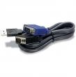 Trendnet Cable KVM 4.5M W/USB TK-CU15