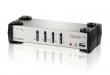 Переключатель ATEN (4 Port USB2.0 KVMP Switch with OSD) CS1734B