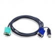 Кабель ATEN 2L-5201U (CABLE HD15M/USB A(M)--SPHD15M, 1.2M)