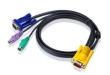 ATEN (CABLE SPHD15M--HD15M/MINIDIN6M, 1.2M) 2L-5201P