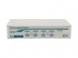 Переключатель REXTRON KVM 1 консоль, 1U, 4 порта D-Sub(15-pin), 8 портов PS/2, экранное OSD-меню, комплект крепления 19' RMK04 и кабели CBMxxxT - опционально (KNV104D)