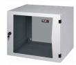 Настенный трехсекционный шкаф 19', 18U, стеклянная дверь, Ш600хВ866хГ620мм, серый (TWA-186062-G-GY)