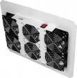 Вентиляторный блок TLK для напольных шкафов серий TFR, TFL, 6 вентиляторов, нижние решетки пластиковые с фильтром, без шнура питания, серый (TLK-FAN6-F-GY)