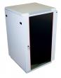 Шкаф телекоммуникационный напольный 27U (600x1000) дверь стекло ШТК-М-27.6.10-1ААА (3 места)
