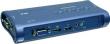 Переключатель KVM TRENDNet TK-409K 4- портовый, USB+ аудио
