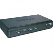 Переключатель KVM TRENDNet TK-423K 4- портовый, USB/PS/2+ аудио