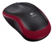 Logitech (Mouse Logitech Wireless M185 Red) 910-002240